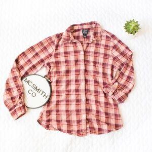 Lucky Brand | Plaid Cotton Button Down Shirt